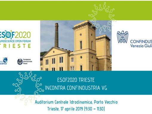 ESOF2020 incontra Confindustria Venezia Giulia