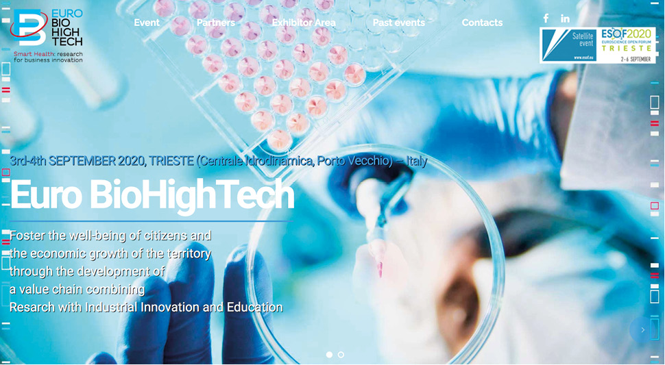 EURO BioHighTech 2020: 3 e 4 settembre, evento satellite di ESOF 2020